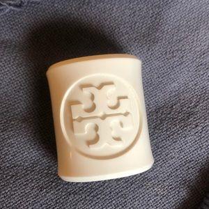 Tory Burch White Acrylic Cuff